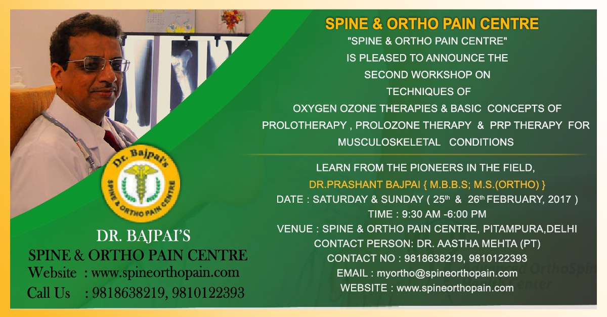 OXYGEN OZONE THERAPIES & BASIC CONCEPTS OF PROLOTHERAPY, PROLOZONE THERAPY & PRP THERAPY